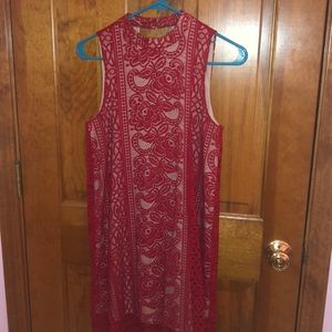 Red lace dress. New condition